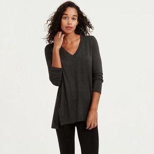 Lou & Grey Charcoal Gray Long Sleeve Tunic Top